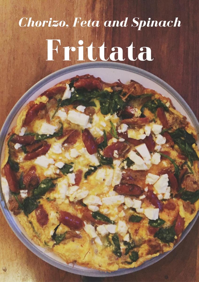 Chorizo, Feta and Spinach Frittata – At Home With Chloe